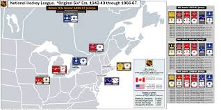 Red Line Chicago Map by National Hockey League U201coriginal Six U201d Era With Map Of 1966 67