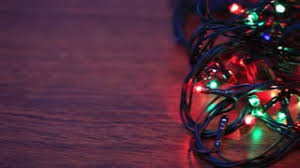 colorful lights bokeh on black background pan stock video footage