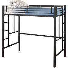 Bunk Bed Metal Frame Metal Loft Bed Sturdy Frame Space Saving Bedroom
