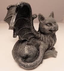 Goth Home Decor by Medieval Cat Gargoyle Statue Chimera Winged Kitty Figurine