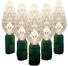 buy 35 count standard grade faceted c6 warm white led light set