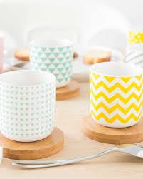 vaisselle petit dejeuner sélection de vaisselle géométrique shake my blog