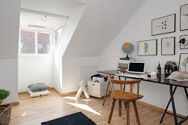 attic loft swedish elegance and minimalism discharged in 90sqm attic loft