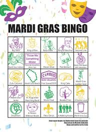 mardi gras bingo celebrate mardi gras 2018 in new orleans with this bingo card