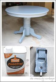 craft room table before and after oil based paint tricks