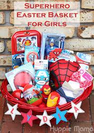 superhero easter basket for girls our potluck family