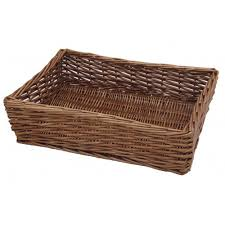 Cheap Baskets For Gifts Padstow Wicker Willow Storage Tray Hamper Basket Bread Fruit Gift