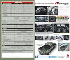 mitsubishi strada updated 2015 mitsubishi strada this is the brochure philippine