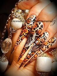day 262 leopard stiletto nail art nails magazine