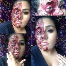 half face halloween makeup halloween makeup madness day3 half burn face youtube