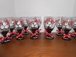 christmas gifts for a bunco party hand painted glasses