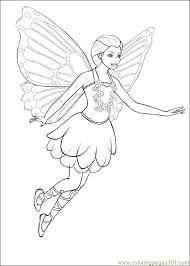 barbie mariposa coloring pages fairy princess movie 14 free