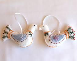 turtle dove ornament etsy