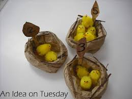 an idea on tuesday paper bag nests