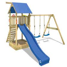 si e balancoire wickey smart empire aire de jeux cabane portique en bois balançoire