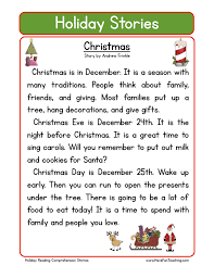 christmas reading comprehension worksheets lizardmedia co