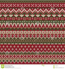 christmas sweater design seamless knitted pattern in traditiona
