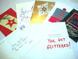 card glitter bomb prank funky delivery