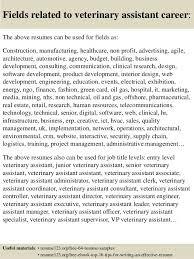 vet assistant resume cover letter