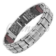 germanium health bracelet images Black health bracelet 4in1 magnets negative ions germanium far jpg