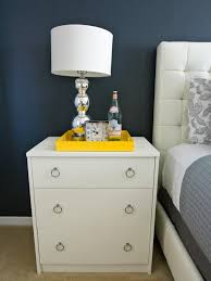 Nightstands With Mirrored Drawers Bedroom Nightstand Mirrored Bedside Table Tall White Nightstand