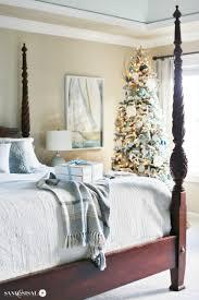 White Bedroom Tour Classic Coastal Christmas Bedroom Sand And Sisal