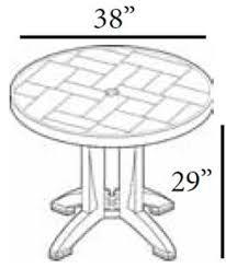 Patio Table With Umbrella Resin Plastic Outdoor Restaurant Tables Bar U0026 Restaurant