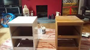 ikea bedside cabinets malm a little cornish home upcycling ikea bedside tables