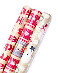 photo wrapping paper hallmark christmas reversible wrapping paper merry