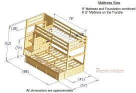 Free Loft Bed Plans Queen by Bunk Beds Twin Over Full Bunk Bed Plan Diy Bunk Beds With Stairs