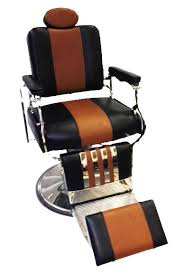 Barbers Chairs Professional Reclining Barber Chair Rare Two Tone Black Brown