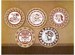 shop decorative tribal design wall plate inca art ceramic home