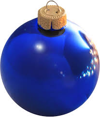 wedgewood blue glass ornament