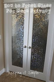 frosted glass french door keeping it simple how to frost glass with vinyl for more privacy