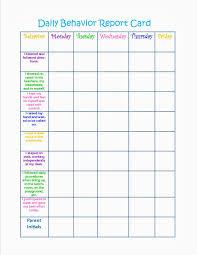kindergarten progress report template weekly behavior report template