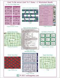 used to be used to 7 game 2 worksheet bundle esl fun games fun