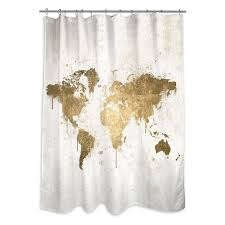 Modcloth Shower Curtain Gold And Cream Shower Curtain Dorm Room Decor Ideas How To