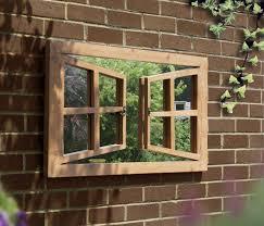 window illusion garden mirror outdoor perspective frame