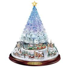 amazon com thomas kinkade crystal tabletop christmas tree lights