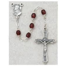 rosary collection view by color purple rosaries
