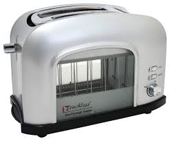 2 Slice White Toaster Itouchless 2 Slice See Through Smart Toaster Contemporary