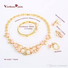 necklace pearl pink images 2018 westernrain fashion pink pearls costume jewelry ladies jpg