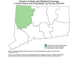 Map Of Connecticut Towns State Data On Health Coverage In Small Towns And Rural Areas
