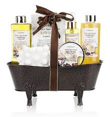 amazon com pinkleaf nature spa vanilla argan oil bath gift set