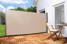 seitenmarkise balkon für balkon terrasse l 300cm h 180cm farbe creme beige