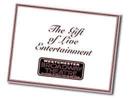 theater gift cards broadway theatre show gift certificates westchester ny ct