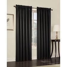 Light Block Curtains Sun Zero Semi Opaque Black Gregory Room Darkening Pole Top Curtain