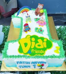 and friends cake birthday cake didi and friends kek birthday didi and friends