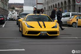 ferrari yellow 458 ferrari 458 speciale 5 march 2017 autogespot