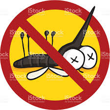 cartoon car back cartoon insecticide symbol dead mosquito stock vector art